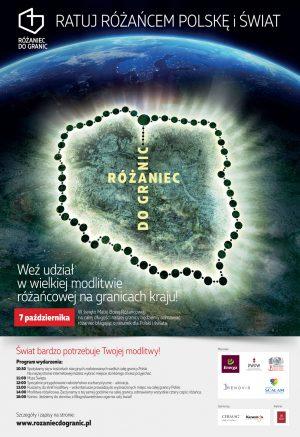 Różaniec do granic - plakat