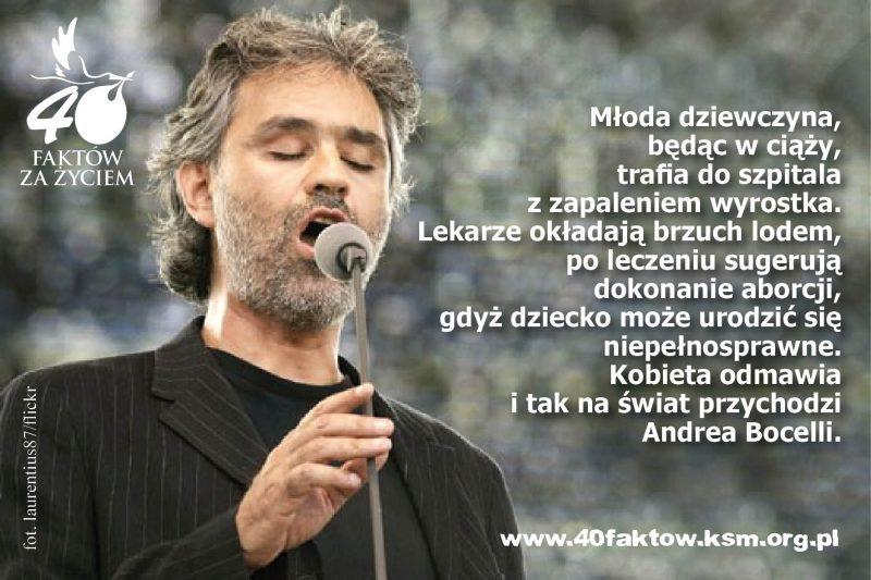 40 faktów - Andrea Bocelli