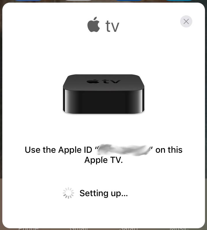 AppleTV - po resecie na iOS10